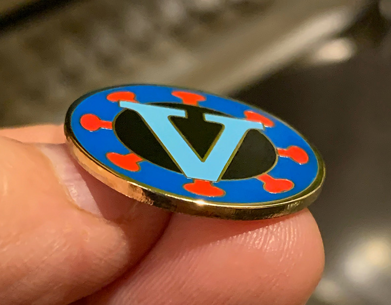 Vaccine Victory Pin
